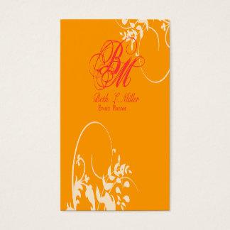Modern Elegant Professional Fantasy Floral Swirls Business Card