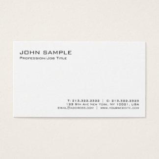 Modern Elegant Professional White Minimalist Plain Business Card
