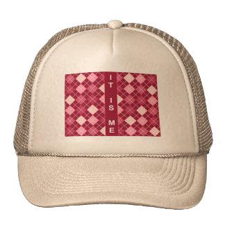 Modern Elegant Red Pattern Hats