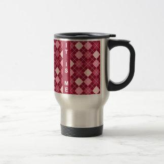Modern Elegant Red Pattern Travel Mug