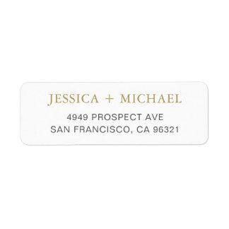 Modern Elegant Return Address Label