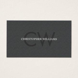 Modern Elegant Texture Grey Monogram Consultant