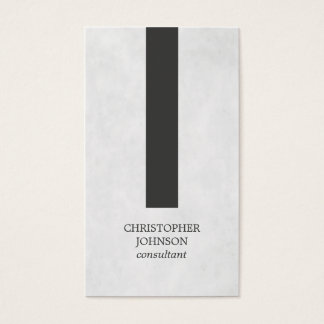 Modern Elegant Texture Grey Stripe Consultant Business Card