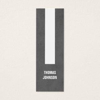Modern Elegant Texture Grey Stripe Consultant Mini Business Card