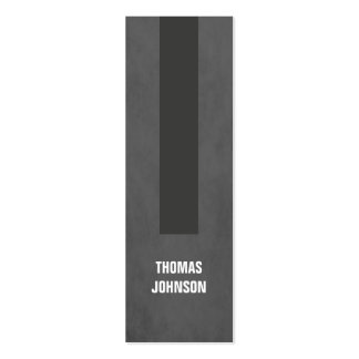 Modern Elegant Texture Grey Stripe Consultant Pack Of Skinny Business Cards