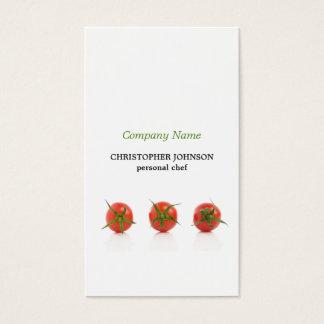 Modern Elegant Tomato Photo Personal Chef Business Card