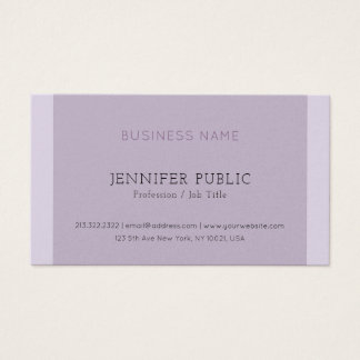 Modern Elegant Violet Corporate Pearl Finish Luxe Business Card