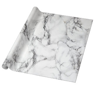 modern elegant white marble stone wrapping paper