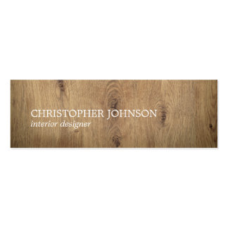 Modern Elegant Wooden White Interior Designer Pack Of Skinny Business Cards