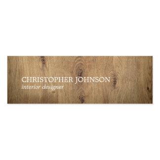 Modern Elegant Wooden White Interior Designer Pack Of Skinny Business Cards