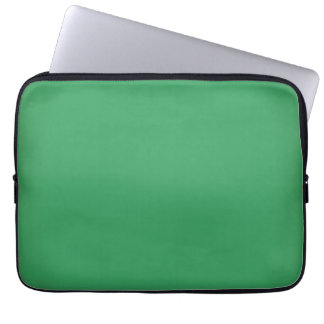 Modern Emerald Green Customizable 13 Inch Laptop Sleeve
