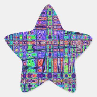 Modern Ethnic Star Sticker