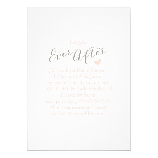 Modern Ever After Bridal Shower Invitaiton Custom Announcements
