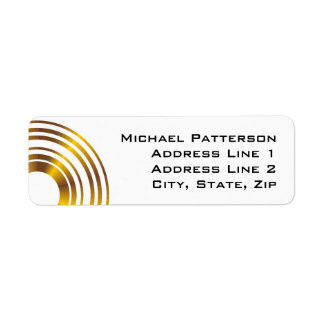 Modern Executive Circles Business Professional Return Address Label