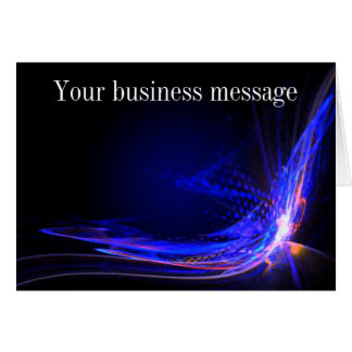 Modern Explosion Business Thank You Note Card