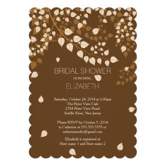 Modern Fall Autumn Leaf Bridal Shower Invitation