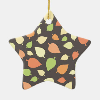 Modern Fall Leaves Ceramic Star Decoration