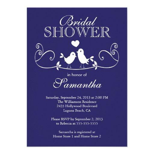 Modern Fall  Love Birds Bridal Shower Invitation