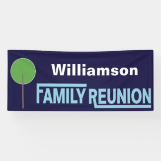 Modern Family Tree Family Reunion Gathering Banner