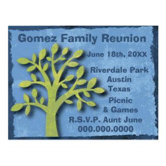 Modern Family Tree Family Reunion Postcard