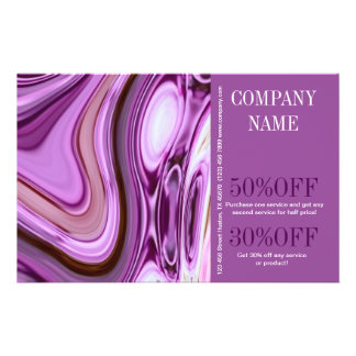 modern fashion beauty SPA nail salon purple swirls Personalized Flyer