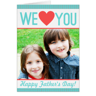 Modern Father's Day Photo Card