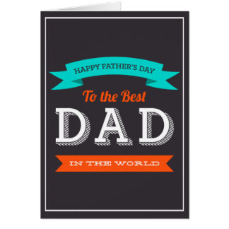 Modern Father's Day Typography Design Greeting Card