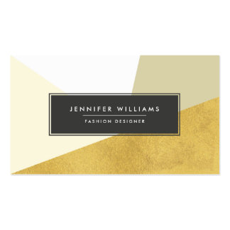 Modern Faux Gold Foil Geometric Shapes Pack Of Standard Business Cards