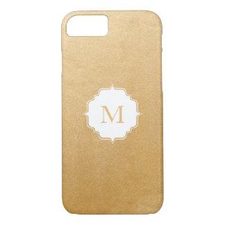 Modern Faux Gold Foil Monogram iPhone 8/7 Case