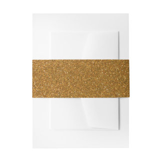 Modern Faux Gold Glitter Invitation Belly Band