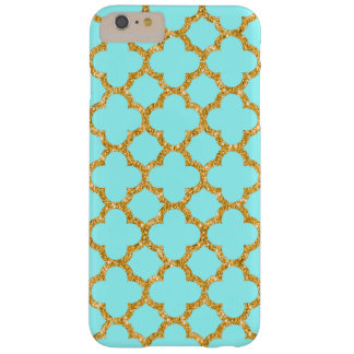 Modern Faux Gold Glitter Mosaic Quatrefoil Pattern Barely There iPhone 6 Plus Case