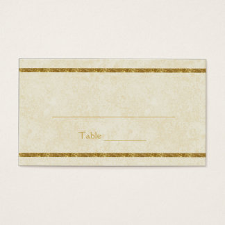 Modern Faux Gold Sparkles on Ivory Place Cards