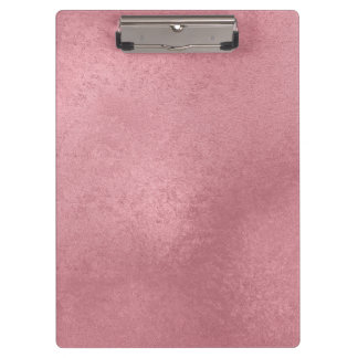 Modern faux rose gold clipboard