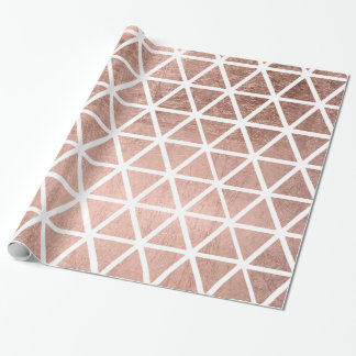 Modern faux rose gold foil triangles pattern