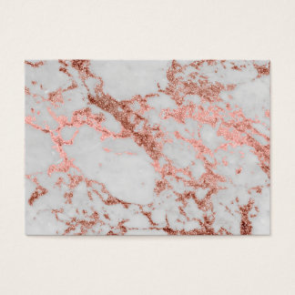 Modern faux rose gold glitter marble texture image business card