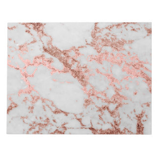 Modern faux rose gold glitter marble texture image notepad