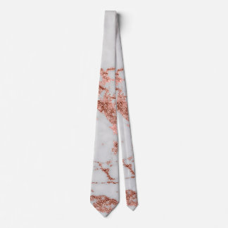 Modern faux rose gold glitter marble texture image tie