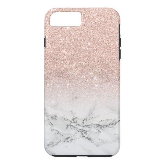9532406c7 Modern faux rose pink glitter ombre white marble Case-Mate iPhone case |  Zazzle.com.au