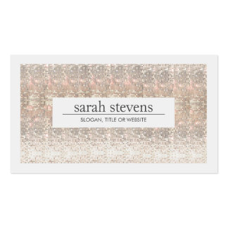 Modern Faux Sequins Beauty and Fashion Stylist Pack Of Standard Business Cards