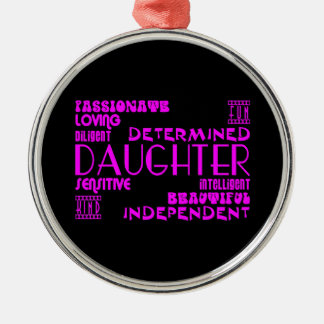 Modern Feminine Chic & Stylish Daughters Metal Ornament