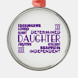 Modern Feminine Chic & Stylish Daughters Metal Ornament