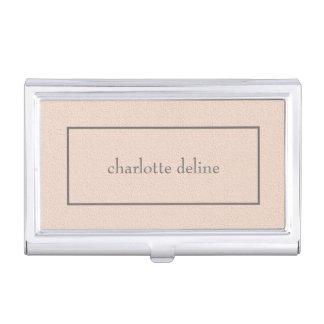 Modern Feminine Chic Texture Pale Pink Beauty Business Card Holder
