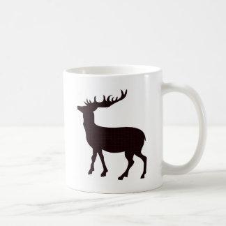 Modern feminine deer basic white mug