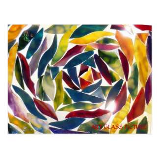 Modern Fine Art Glass Picture Card Postcard