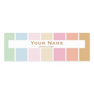 modern fine color pastel brown business card