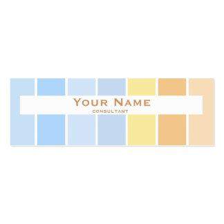 modern fine color pastel business cards