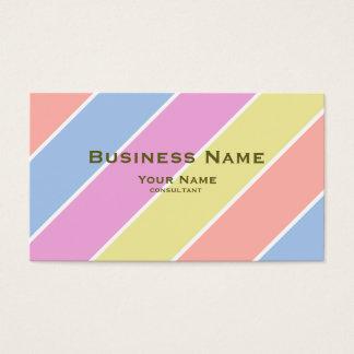 modern fine color pastel business card