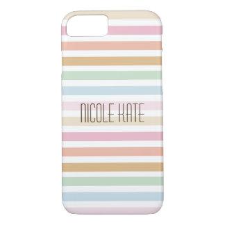 modern fine pastel color monogram iPhone 8/7 case
