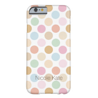 modern fine pastel color polka dots barely there iPhone 6 case