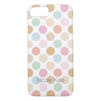 modern fine pastel color polka dots iPhone 7 case